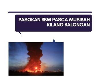 Pasokan BBM Pasca Musibah Kilang Balongan (1)